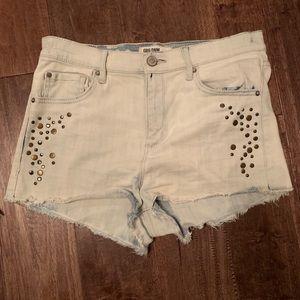 Pants - Studded jean shorts